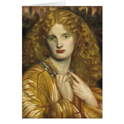 Dante Gabriel Rossetti: Helen de Troy Tarjeta De Felicitación