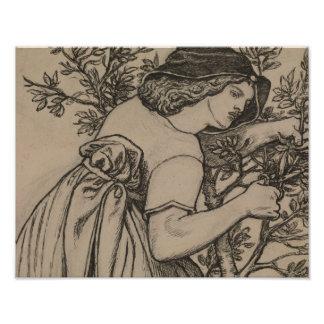 Dante Gabriel Rossetti - Honeymoon de rey Rene Fotografía