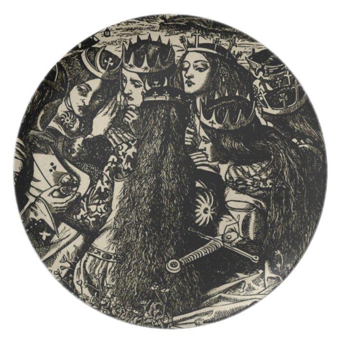 Dante Gabriel Rossetti Illustration Pre-raphaelite Dinner Plate