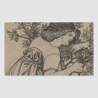Dante Gabriel Rossetti - King Rene's Honeymoon Rectangular Sticker