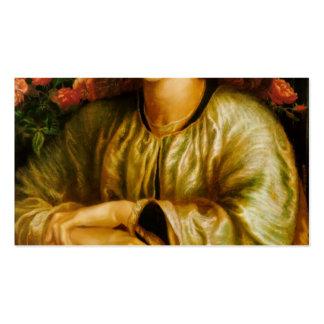 Dante Gabriel Rossetti- la ventana de las mujeres Tarjetas De Visita