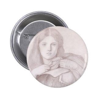 Dante Gabriel Rossetti: Mi señora Greensleeves Pin