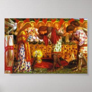 Dante Gabriel Rossetti paints Sir Galahad Poster