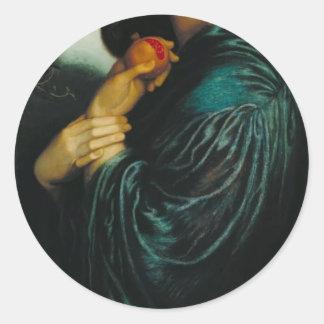 Dante Gabriel Rossetti- Proserpine Round Sticker