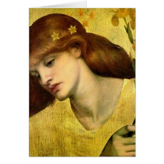 Dante Gabriel Rossetti- Sancta Lilias Greeting Cards