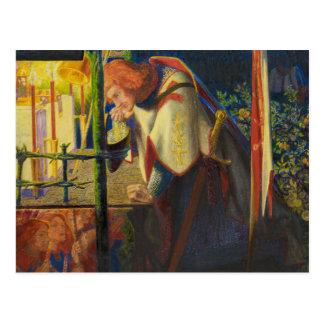 Dante Gabriel Rossetti - Sir Galahad at the Ruined Postcard