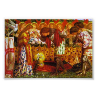 Dante Gabriel Rossetti: Sir Galahad Print