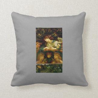 Dante Gabriel Rossetti- The Blessed Damozel Throw Pillows