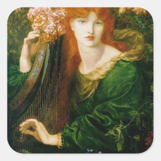 Dante Gabriel Rossetti- TheGarland Square Sticker