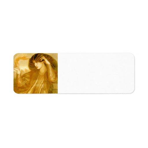 Dante Gabriel Rossetti: TheWomenofthe Flame Custom Return Address Label