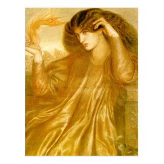 Dante Gabriel Rossetti: TheWomenofthe Flame Postcard