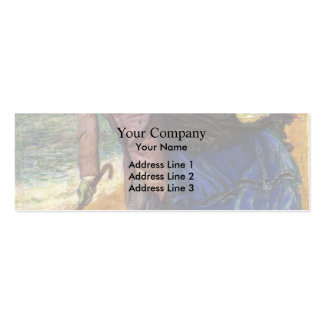 Dante Gabriel Rossetti- Writing on the Sand Business Card Templates
