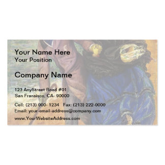 Dante Gabriel Rossetti- Writing on the Sand Business Card Template