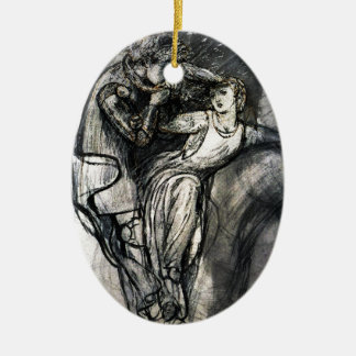 Dante Gabriel Rossetti's La Belle Dame sans Merci Ceramic Ornament