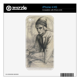 Dante in Meditation Holding a Pomegranate, c.1852 iPhone 4S Skins