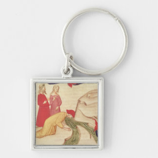 Dante purifying himself before entering Silver-Colored square keychain
