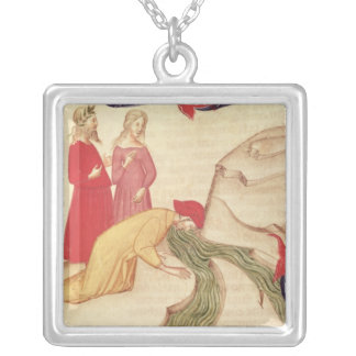 Dante purifying himself before entering square pendant necklace
