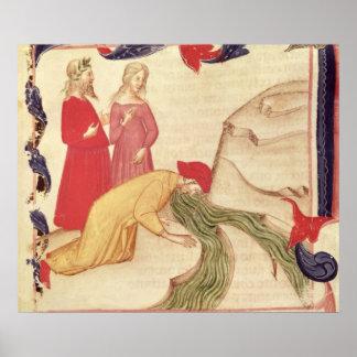 Dante que se purifica antes de entrar impresiones