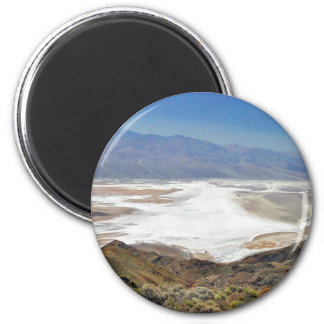 Dante S View Salt Flats Desert Death Valley 2 Inch Round Magnet