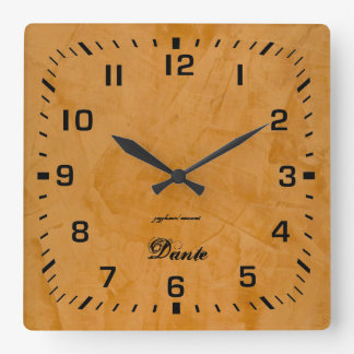 Dante Square Wall Clock
