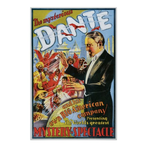 Dante ~ The Mysterious Magician Vintage Magic Act Print