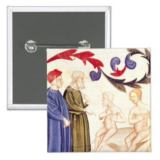 Dante, Virgil and the Plague-stricken Button
