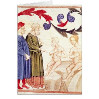 Dante, Virgil and the Plague-stricken Card