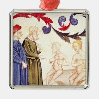 Dante, Virgil and the Plague-stricken Metal Ornament