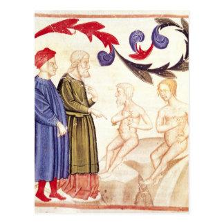 Dante, Virgil and the Plague-stricken Postcard