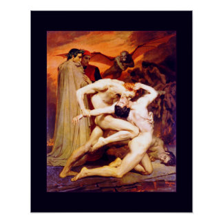 Dante & Virgil (Bouguereau 1850) Poster