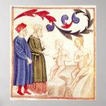 Dante, Virgil y Plaga-pegados Póster