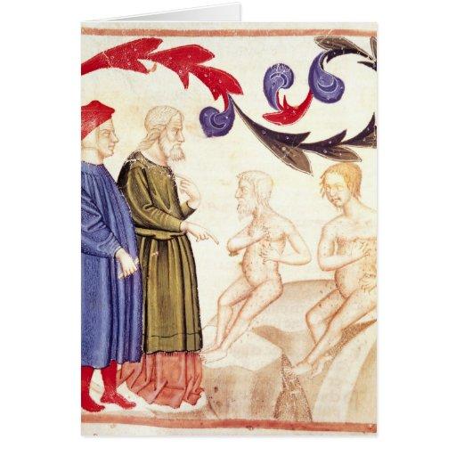 Dante, Virgil y Plaga-pegados Tarjeta De Felicitación