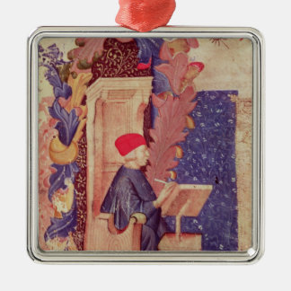 Dante writing 'The Divine Comedy' Christmas Ornaments