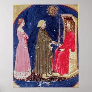 Dante y Beatriz antes de justiniano Póster