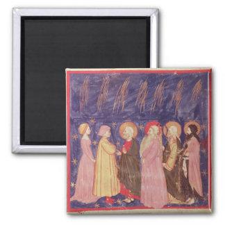 Dante y Beatriz con los santos del paraíso Iman Para Frigorífico