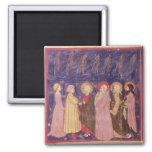 Dante y Beatriz con los santos del paraíso Imán Cuadrado