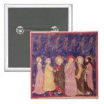 Dante y Beatriz con los santos del paraíso Pin Cuadrado