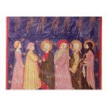 Dante y Beatriz con los santos del paraíso Postal
