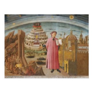 Dante y los accesorios divinos del arte del postales