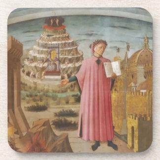 Dante y los accesorios divinos del arte del vintag posavasos