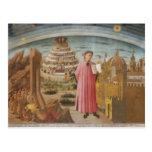 Dante y los accesorios divinos del arte del vintag tarjetas postales