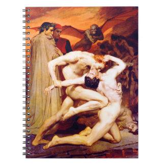 Dante y Virgil (Bouguereau 1850) Libro De Apuntes Con Espiral