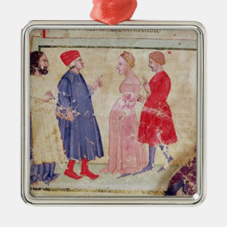 Dante y Virgil con Francisca DA Rímini Ornamento Para Reyes Magos