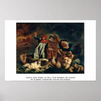 Dante y Virgil en el infierno (la barca de Dante) Posters