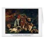 Dante y Virgil en el infierno (la barca de Dante) Felicitaciones