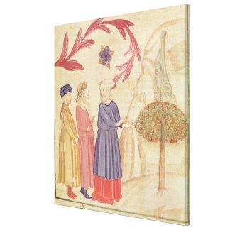 Dante y Virgil en el paraíso terrestre Lienzo Envuelto Para Galerías