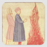 Dante y Virgil reconocen Ulysees Pegatina Cuadrada