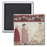 Dante y Virgil resuelven las almas encarceladas Imán Cuadrado
