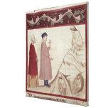 Dante y Virgil resuelven las almas encarceladas Impresión En Lienzo
