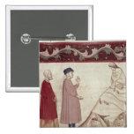 Dante y Virgil resuelven las almas encarceladas Pin Cuadrado